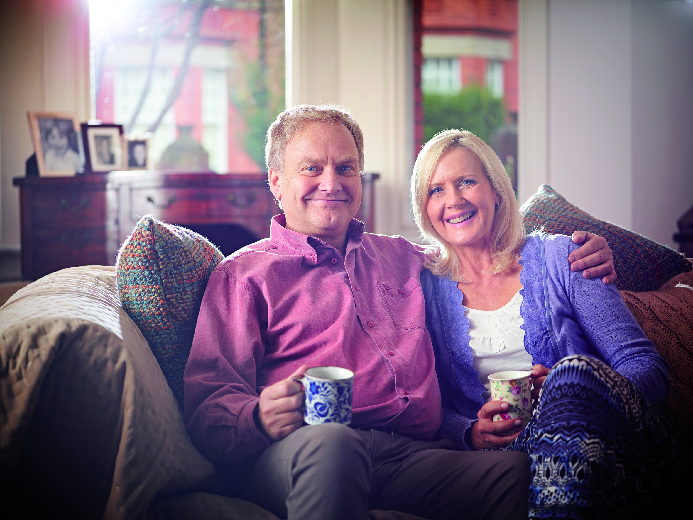 Photo of happy older couple, part of Bield's dedicated care PR campaign to raise profile of its services