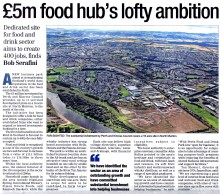 The Herald coverage for food and drink pr story