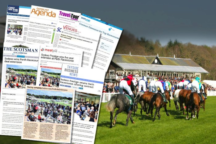 Scottish PR agency shares media coverage success for Sodexo Prestige which has renewed its contract with Perth Racecourse