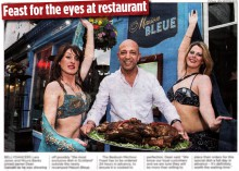 Coverage in the evening news for food and drink pr story