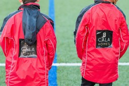 The North Berwick primary school team were delighted as they are photographed in their new training jackets thanks to a sponsorship from Holyrood PR client CALA Homes.