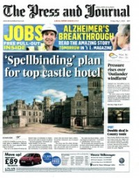 FRONT PAGE coverage edinburgh PR agency