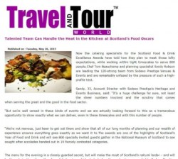 Sodexo makes Travel and Tour World with food and drink pr story