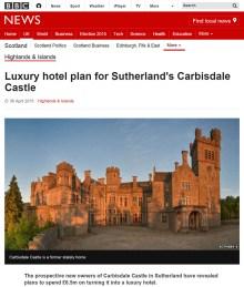 Luxury castle hits the press thanks to Edinburgh PR agency
