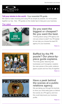 PR agency in Edinburgh weekly round up of PR tips and news