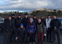 "A team from Blackwood, nicknamed ""The Blackwood Bauchles"" are raising money for Foundation Scotland by walking the West Highland Way in twenty-four hours."