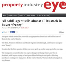 Edinburgh PR agency secure media coverage for Leading Edinburgh Solicitor and Estate agents