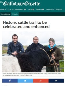 Edinburgh PR Agency attracts tourists to ancient cattle trail
