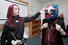 Good Egg road safety initiative uses the PR services of Holyrood PR to promote its work, involving young racing driver, Christie Doran