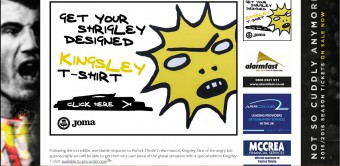 Partick Thistle is selling T-shirts of scary new mascot Kinglsey