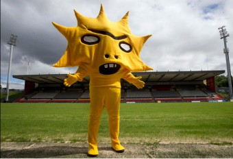 Scary football mascot Kingsley generated huge media coverage for Partick Thistle