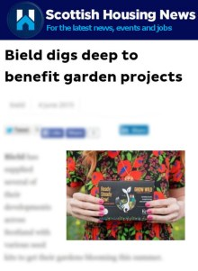 Edinburgh PR Agency helps Bield promote Green Fingers Initiative