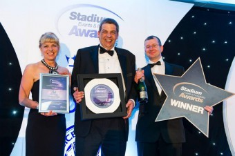 Sodexo Prestige hospitality team pose with awards for food and drink pr story