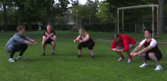 Holyrood PR getting put through their paces in preparation for total warrior