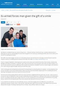 Dental PR coverage in Scotland