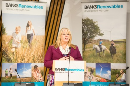 Connect2Renewables. Onshore wind farm event in Scottish Parliament. IN PIC................. Event sponsor, Christina McKelvie, SNP, MSP for Hamilton, Larkhall and Stonehouse hosting the event in the Burns Room at Holyrood on Tuesday night. (c) Wullie Marr/HPR For pic details, contact Wullie Marr........... 07989359845