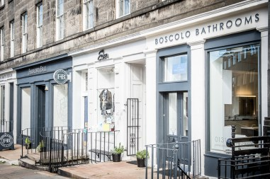Boscolo Bathrooms new showroom in Stockbridge, Edinburgh, and owner, Ronnie Scott.