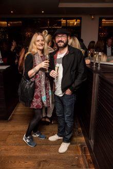 Hotel PR photograph of Lesley Gordon and Ian Sommerville in Tigerlily, Edinburgh