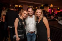 Hotel PR photograph of Pam Craig, Jonathan Doherty and Fiona McLeod in Tigerlily, Edinburgh