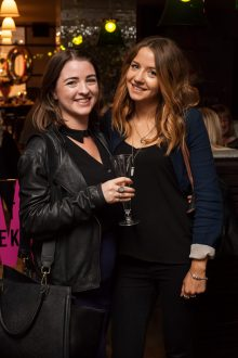 Hotel PR photograph of Katherine Macdonald and Naomi Rendell in Tigerlily, Edinburgh