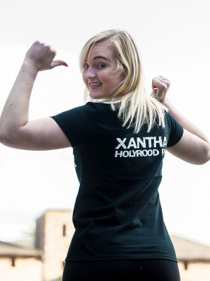 Thumbs up for Xantha Leatham, part of the Holyrood PR Total Warrior team