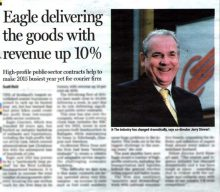 Eagle Couriers positive media coverage thanks to Holyrood PR in Scotland