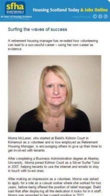 Successful care PR for Bield in Scotland