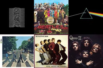 A selection of Album covers to illustrate a PR blog post by Holyrood PR in Scotland