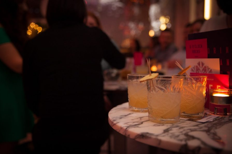 Hotel PR photograph of exquisite cocktails at Tigerlily, Edinburgh