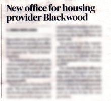 Blackwood's positive media profile thanks to successful care PR