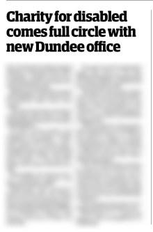 Positive media coverage of Blackwood in Scotland