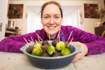 Ros Milligan, chocolatier, making chocolate covered Brussel sprouts for the chocolate fair in Perth on the 21/22 November IN PIC................. (c) Wullie Marr/DEADLINE NEWS For pic details, contact Wullie Marr........... 07989359845