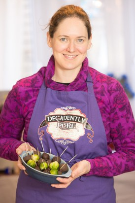 Ros Milligan, chocolatier, making chocolate covered Brussel sprouts for the chocolate fair in Perth on the 21/22 November