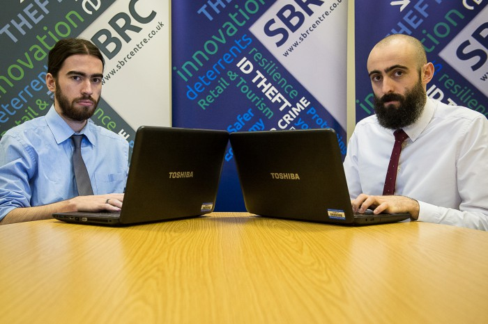 PR photos of cyber security experts in Scotland