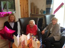 PR photo of a centenarian in a Bield care home