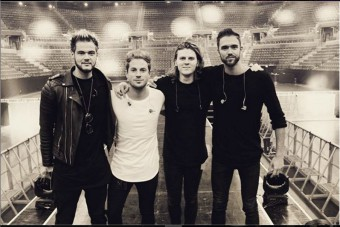 Lawson in a photograph from the band's Instagram account