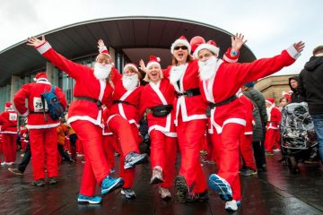 Public relations photos of Perth Santa Run