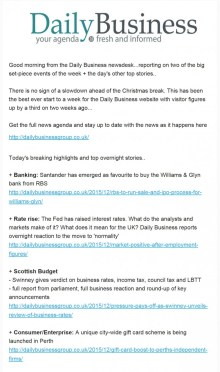 Daily Business Newsletter Perth Gift Card