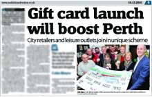 Perthshire Advertiser Perth Gift Card