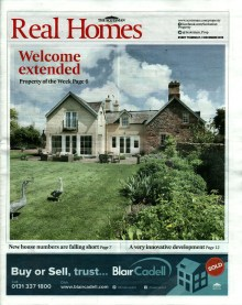 Front Page of Real Homes - Cotlands House