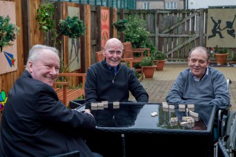 Alex Neil MSP meets service users of Oakburn Park Day Care in se