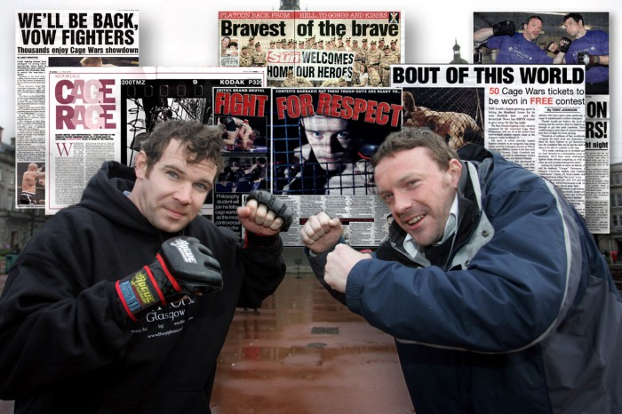 public relations for MMA event in Glasgow involved John Smeaton