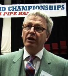 David Johnstone of Scottish Schools Pipe Band Championships