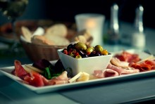 PR photographs of the Italian food at Rigatoni's in Edinburgh