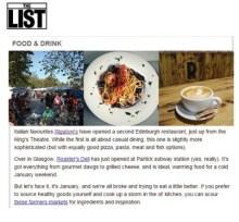 PR success for Rigatoni's in The List magazine