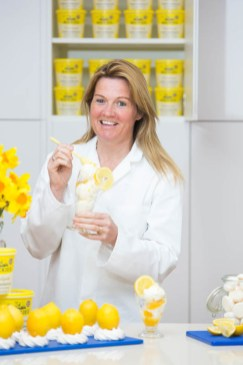 PR photography take for the launch of the new Sicilian lemon ice cream by Mackie's of Scotland