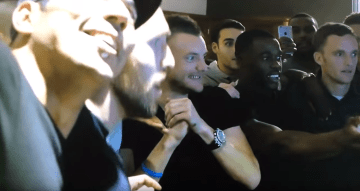 Leicester City Players having a Party