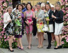 Ladies celebrating Ladies Day at Musselburgh Racecourse