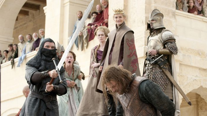 Ned Stark beheaded by Ilyn Payne in Game of Thrones