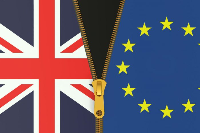 European Referendum Debate Header Image - Two flags with a zip